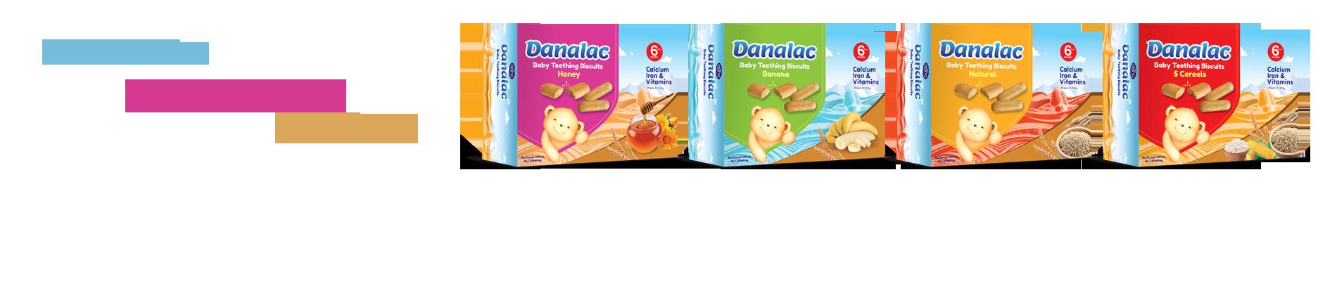 Galletas de dentición Danalac - Refuerzo nutricional añadido procedente de la naturaleza