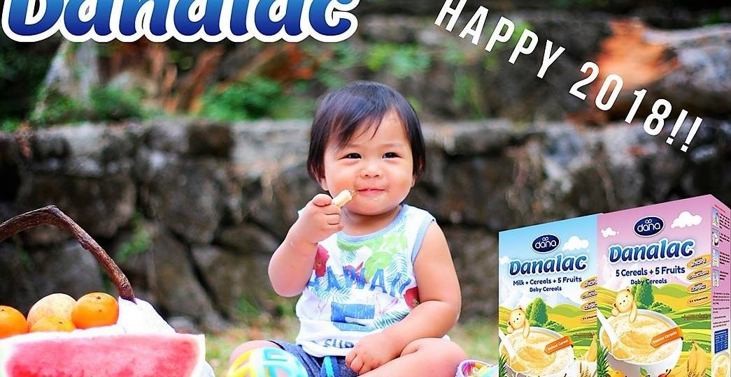 DANALAC Five Fruits Baby Cereal Wishes You Happy X-mas Eve
