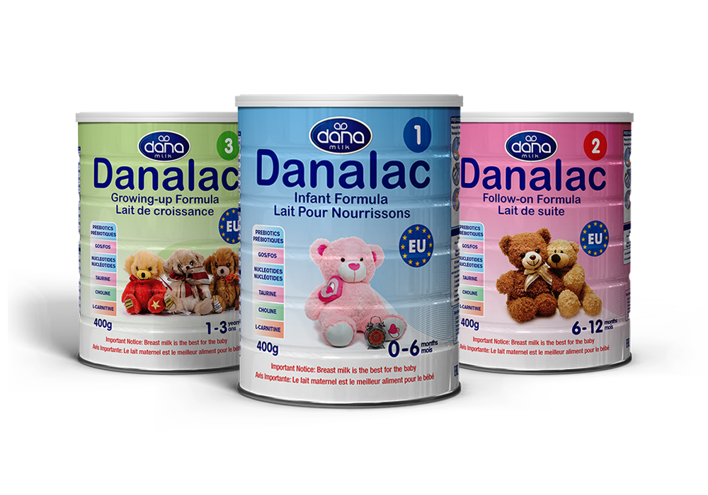 DANALAC Standard Infant Formula Baby Milk Powder With Cow Milk Three Stages