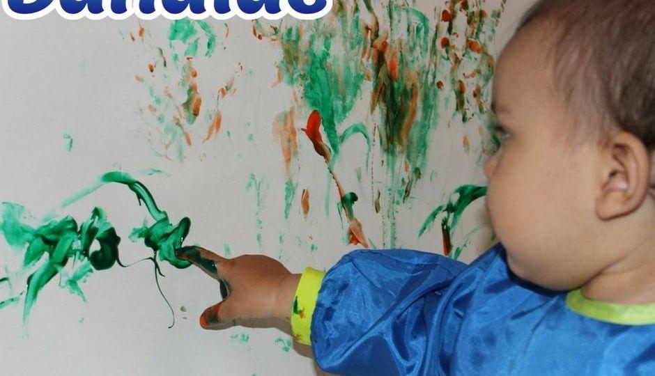 Finger-painting…