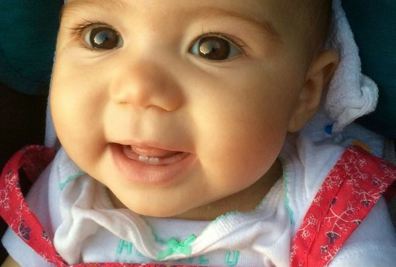 Around six months of age, the first tooth will appear in your baby's mouth